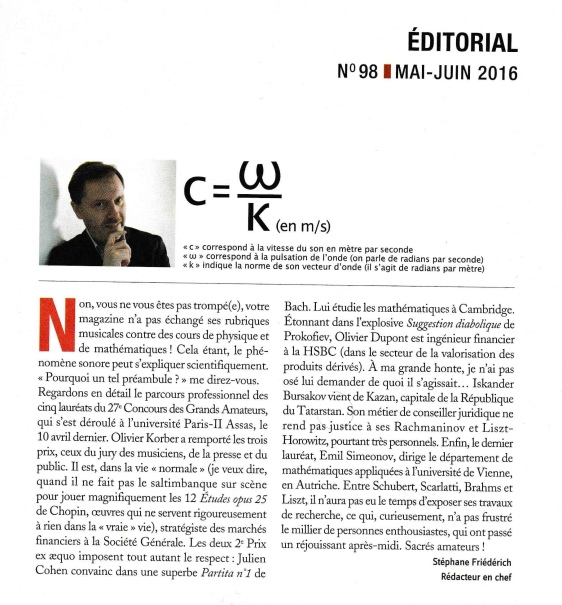 Pianiste - Editorial (mai-juin 2016)